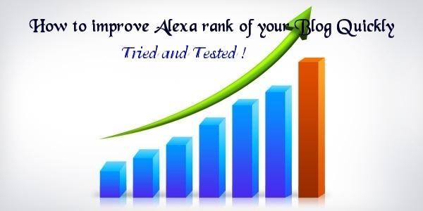 improve alexa rank quickly