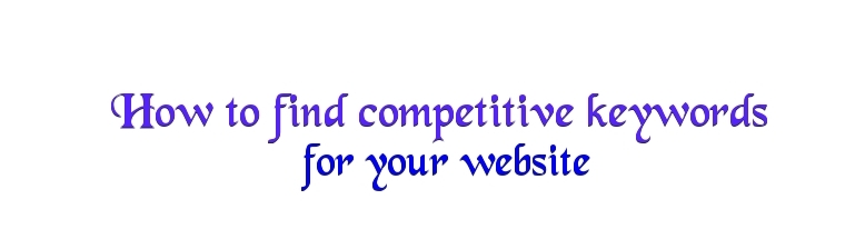 competitive keyword research tools