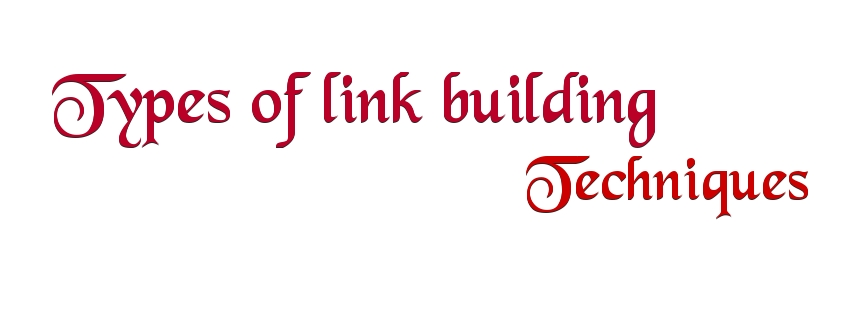 types of link building