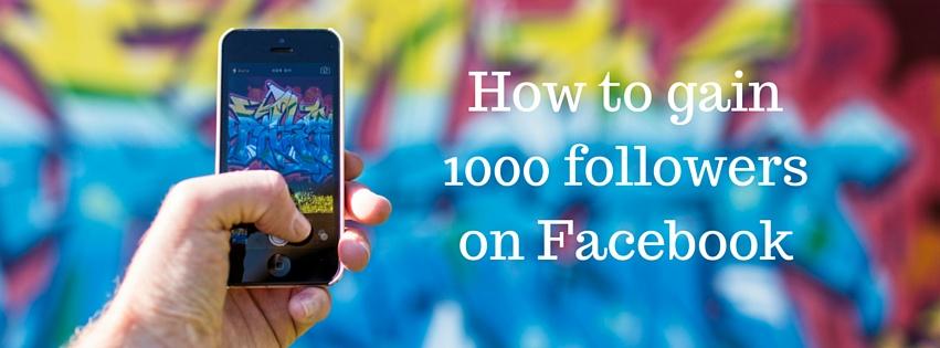 1000 followers on Facebook