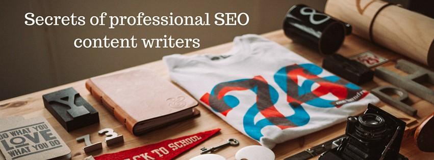 Secrets of professional SEO content writers