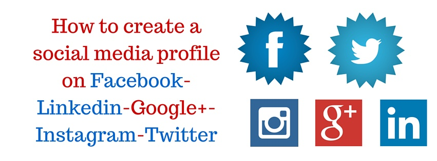 How to create a social media profile