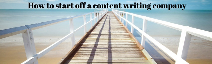 start off a content writing company