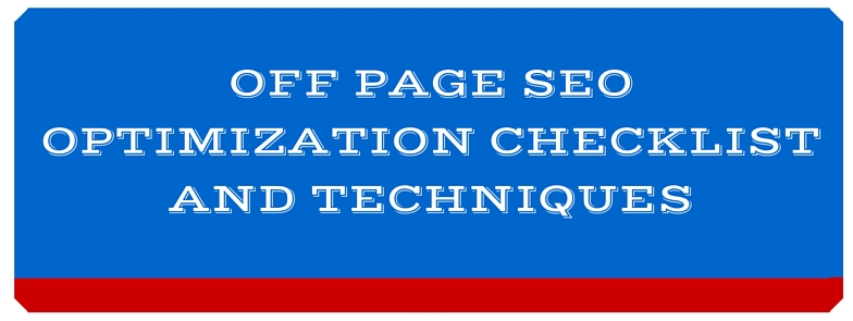 OFF page SEO Checklist,techniques 2015-2016