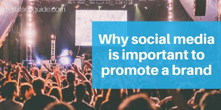social media to promote brand