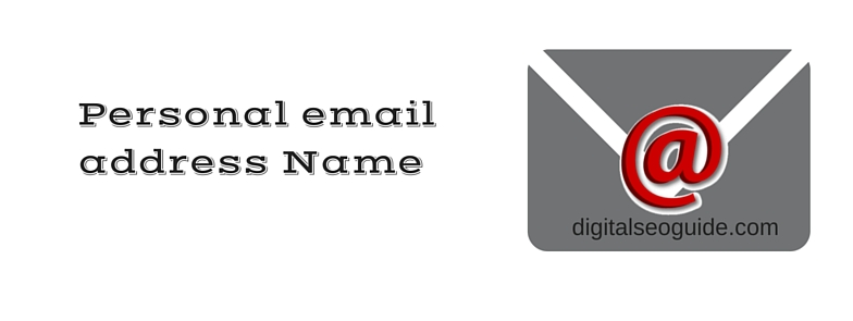 name of personal email address