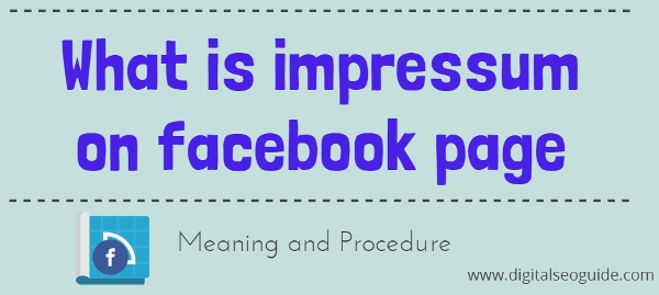 What is Impressum facebook page