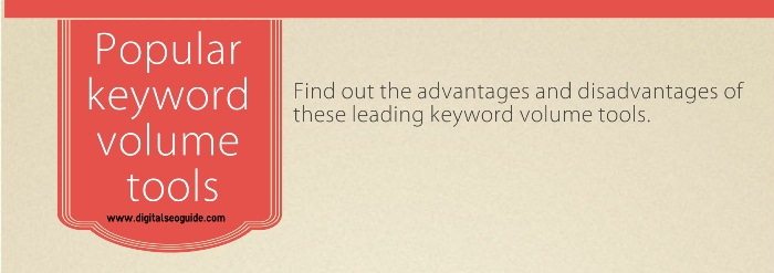 popular keyword volume tools