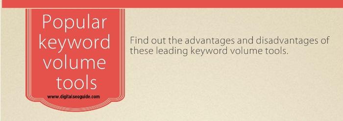 popular keyword volume tools