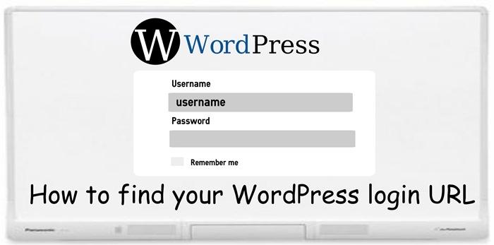 find your WordPress login URL