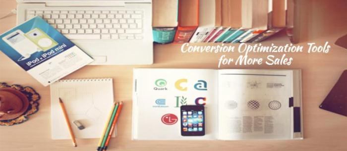 Conversion Optimization Tools for More Sales