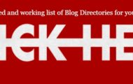 list of Blog Directories
