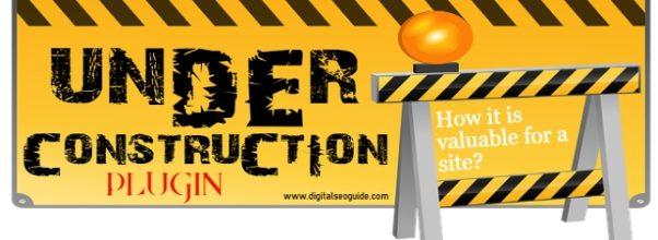 Free wordpress Under-Construction page plugin
