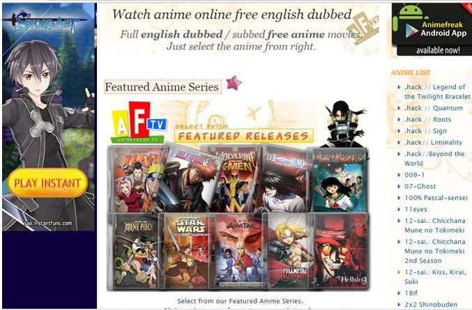 Free Anime Streaming Websites