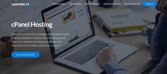cpanel hosting of hosting24