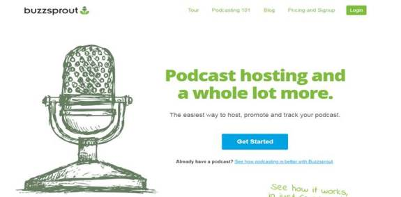Buzzsprout free podcast service