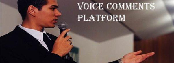 Voice Comments platform