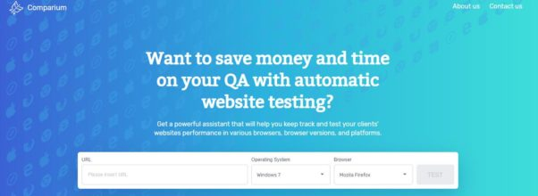 Automated  Website Testing Application